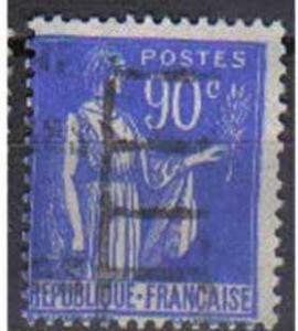 FRANCE, Peace, 1932, used 90c. blue