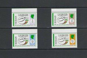 SUDAN: Sc. 601-04 / **UPU CONGRESS IN NAIROBI**/ Set of 4 / MNH-CV:$15