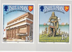 Isle of Man # 250-251, Post office 10th Anniversary, Maxi Cards, Mint Unused
