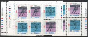 Canada USC #1112a Mint MS Imp. Blocks VF-NH Ice Hockey & Biathlon Winter Games