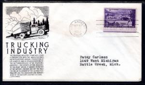 US 1025 Truckers C Anderson Black Typed FDC