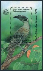 Indonesia 1593,MNH.Michel 1542 Bl.98. Bird Philemon buceroides,1994.