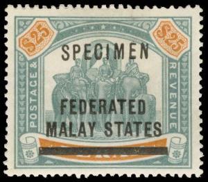 Malaya (Federated States) Scott 13As Gibbons 14s Specimen