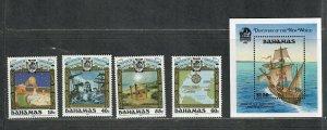 Bahamas Sc#725-729 M/NH/VF, + S/S, Cv. $25.90