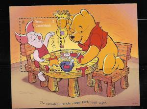 TURKS AND CAICOS 1221 MNH SOUVENIR SHEET WINNIE THE POOH  AND PIGLET