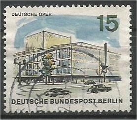 BERLIN, 1965, used 15pf German Opera, Scott 9N224