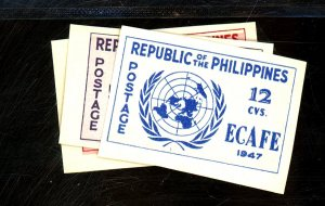 Philippines #516a-518a MINT VF OG LH Cat$17.50