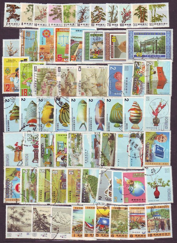 J23225 JL stamps 1984-7 taiwan china used all different some mh
