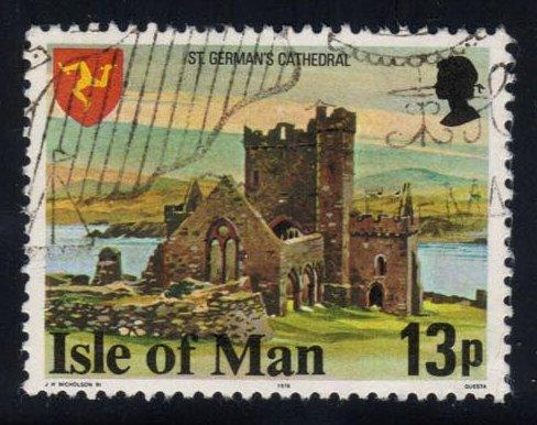 Isle of Man #122 St. German's Cathedral - used (0.70)