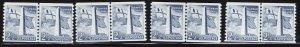 MOstamps - US #1056 Mint OG NH Line Pair Lot (4 Line Pair) SCV $14- Lot # DS-179