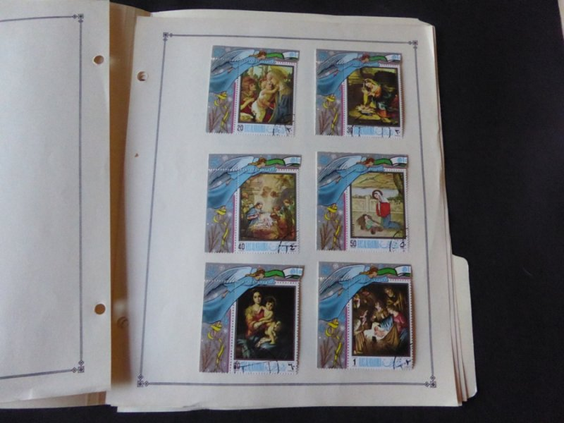Ras Al Kaima Mint/Used Stamp Collection on Scott Intl Album Pages