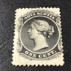 NOVA SCOTIA # 8-USED-----BLACK------1860-63