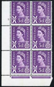 XS7b 3d Deep Lilac Scotland Cyl 5 Dot Violet Centre Band Spot after E REVENUE