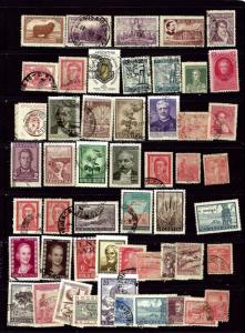 Argentina #2 - 51 different probably all used dups not counted