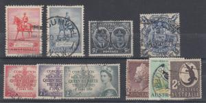Australia Sc 152//401 used 1935-1971 issues, 10 different F-VF