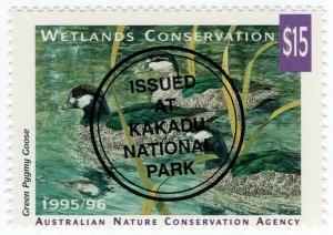 (I.B) Australia Cinderella : Wetlands Conservation $15 (Kakadu)