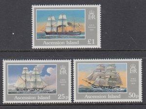 Ascension 502-504 Sailing Ships MNH VF