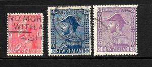 NEW ZEALAND 1926  ADMIRALS  SET 3     FU