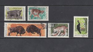 RUSSIA - 1969 BELOVEZHSKAYA FOREST RESERVE - SCOTT 3640 TO 3644 - USED