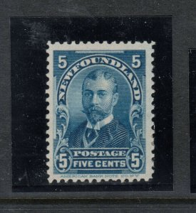 Newfoundland #85 Very Fine Mint Original Gum Hinged
