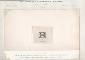 #RS57P1 W.M.E CLARKE LARGE DIE PROOF ON INDIA SUNK ON CARD EX-JOYCE BR2710