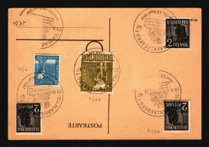 Germany 1947 Markkleeberg Event Card (Some Stamps Removed) - Z17132