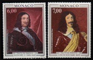 1991 Monaco 2028-2029 Artist / Traite de Peronne 7,00 €