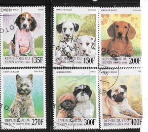 Benin #1087-1092  Dogs  (U) CV $4.75