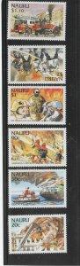 NAURU #502-507  2002 INTERNATIONAL FIRE FIGHTERS    MINT  VF NH  O.G