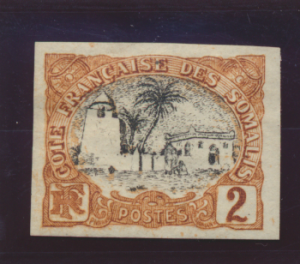 Somali Coast (Djibouti) Stamp Scott #50, Mint Hinged, Imperforate - Free U.S....