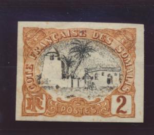 Somali Coast (Djibouti) Stamp Scott #50, Mint Hinged, Imperforate - Free U.S....