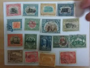 Mini-collection of Guatemala, 17 stamps to start that country collection