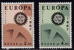 Greece # 891-892, Europa, NH, Half Cat