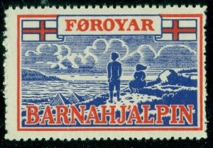 FAROE ISLANDS 1948 Christmas Seal Forerunner, NH, F/VF