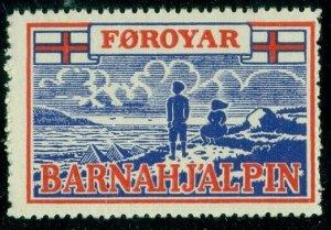 FAROE ISLANDS 1948 Christmas Seal Forerunner, NH, F/VF