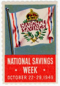 (I.B) Cinderella Collection : National Savings Publicity Stamp (1949)