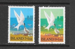 BIRDS - ICELAND #B23-4  MNH