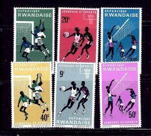 Rwanda 164-69 MNH 1966 Sports