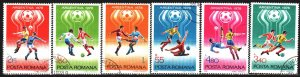 Romania. 1978. 3506-11. FIFA World Cup in Argentina. USED.