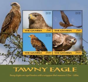 Gambia 2018 Birds - Tawny Eagle (ss/4v)