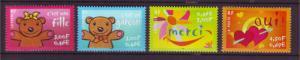 J20367  jlstamps 2001 france mnh set #2805-8 designs