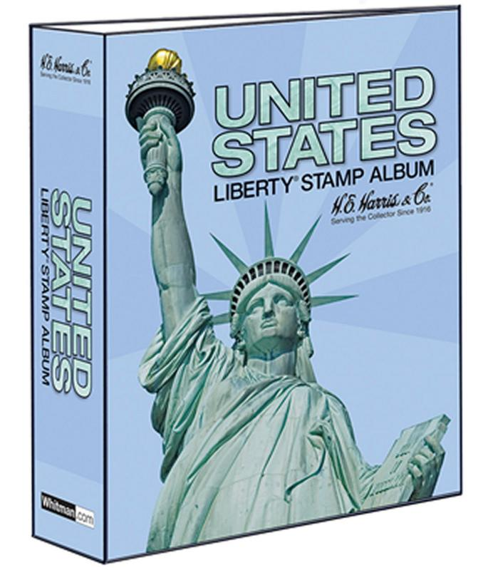 HE Harris United States Liberty Stamp 3 2 POST Traditional BINDER ONLY (HEBDLIB