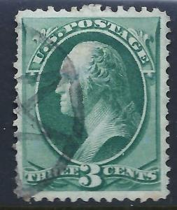 [D2] = USA ~ New York Foreign Mail Fancy Cancel on 3c BN [Make-up Postage]
