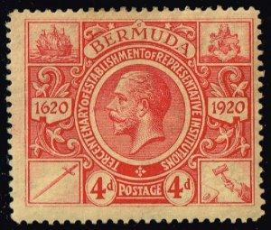 Bermuda #77 King George V; Unused (2Stars)