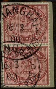 Germany China 1900 Vorlaufer Forerunner SHANGHAI Expertized 85190
