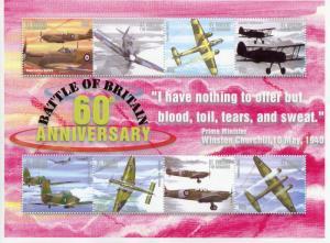 St Vincent & Grenadines 2000 MNH WWII Battle of Britain 8v MS II Aviation Stamps
