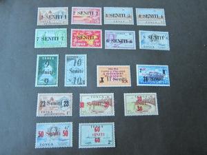 Tonga 1967 Sc 138-174 set MH