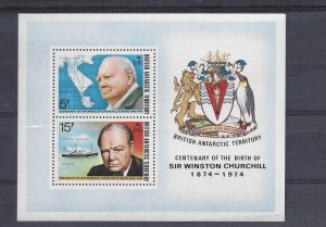 British Antarctic Territory, 63a, Churchill S/S of 2, MNH