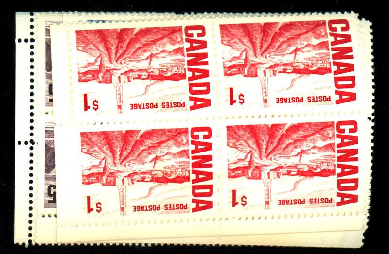 Canada #462-4 465A 465B MINT Blocks F-VF NH Cat $45