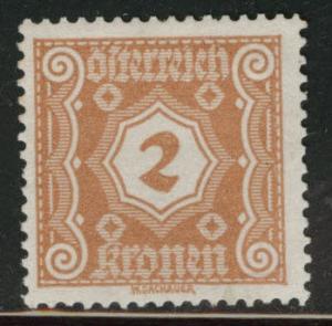 Austria Scott J104 MH* 1922 postage due